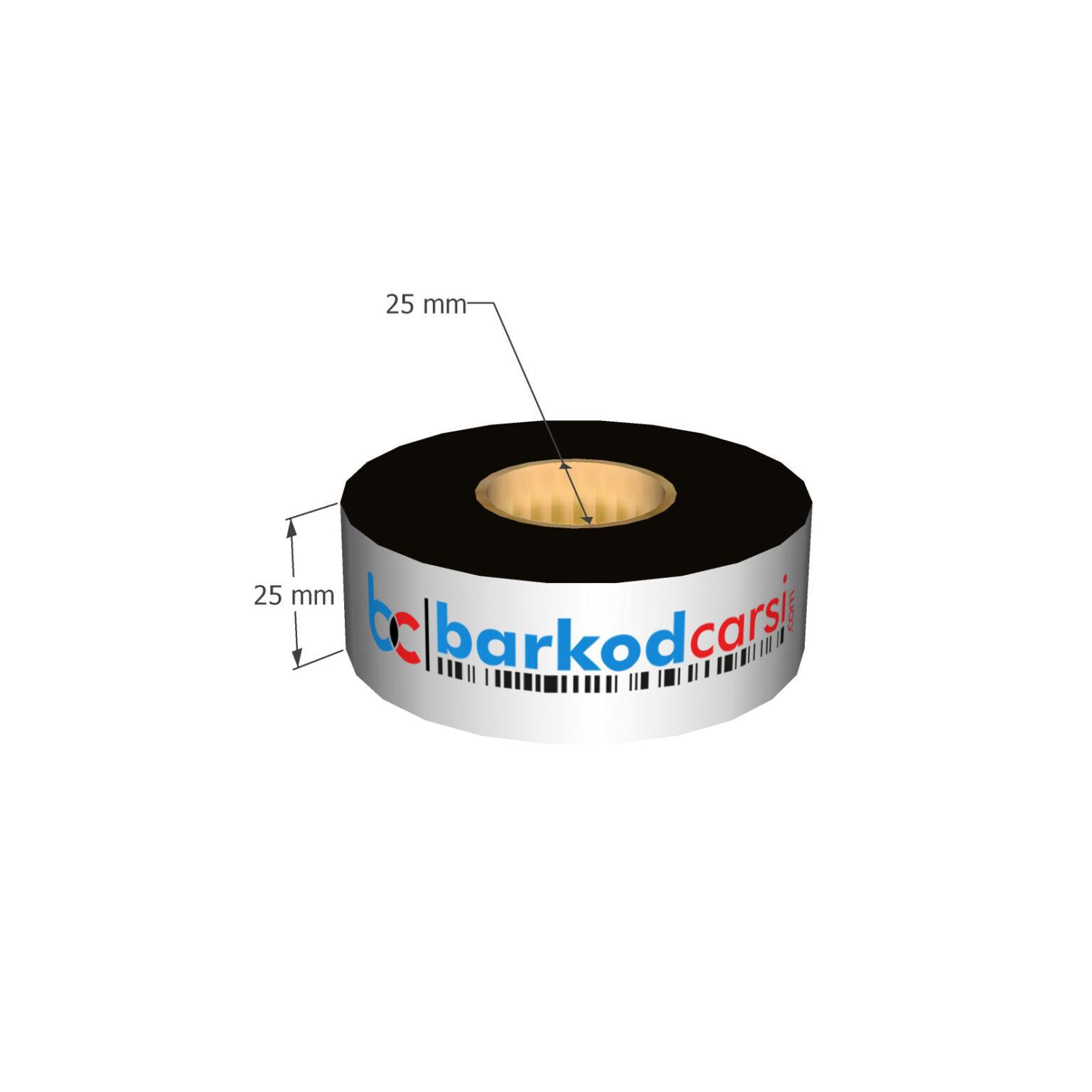 25x300 mt Wax / Wax-Resin / Resin / Hot-Foil Ribon Çeşitleri By BarkodCarsi.com
