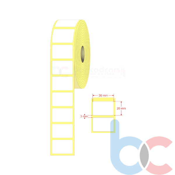 30x20 mm Barkod Etiketi
