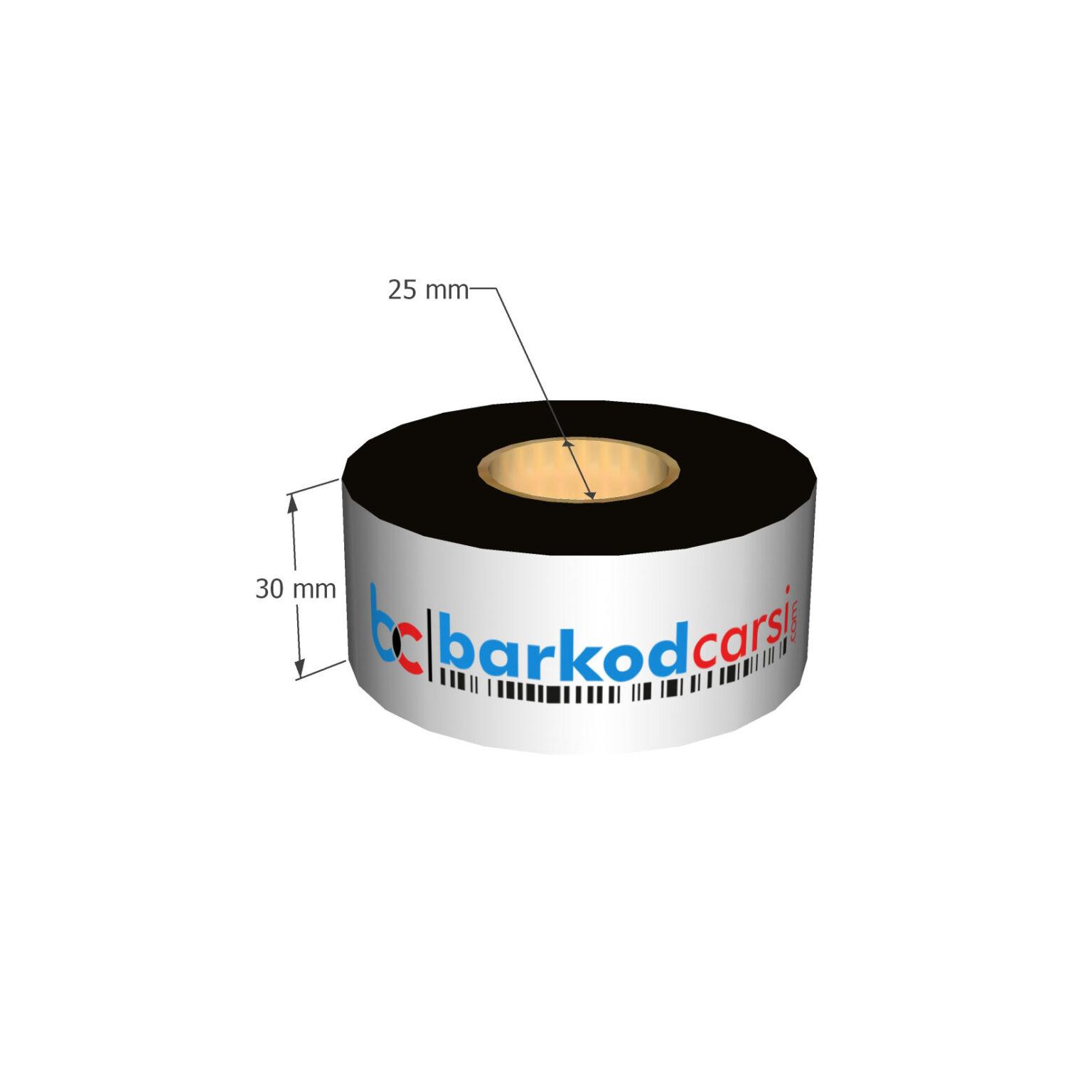 30x300 mt Wax / Wax-Resin / Resin / Hot-Foil Ribon Çeşitleri By BarkodCarsi.com
