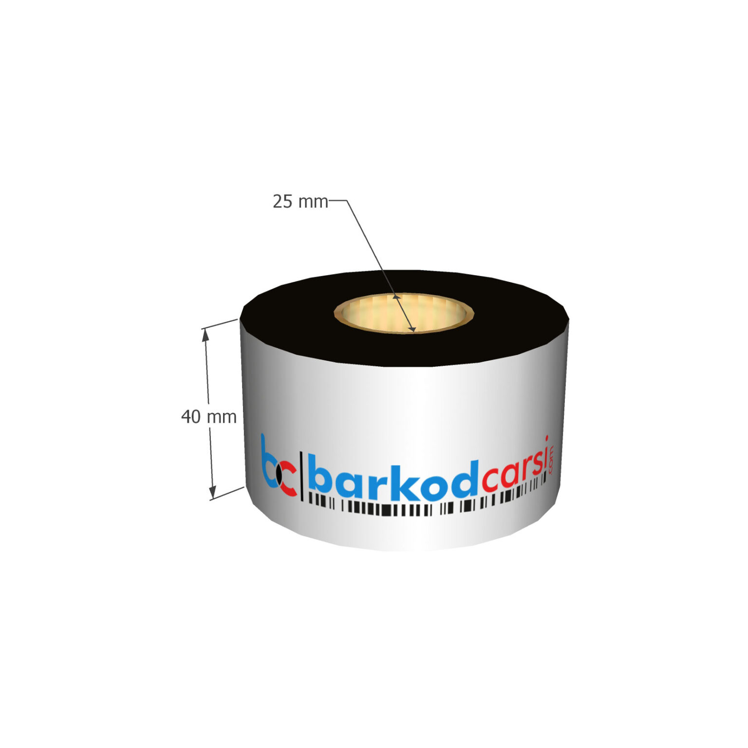 40x300 mt Wax / Wax-Resin / Resin / Hot-Foil Ribon Çeşitleri By BarkodCarsi.com