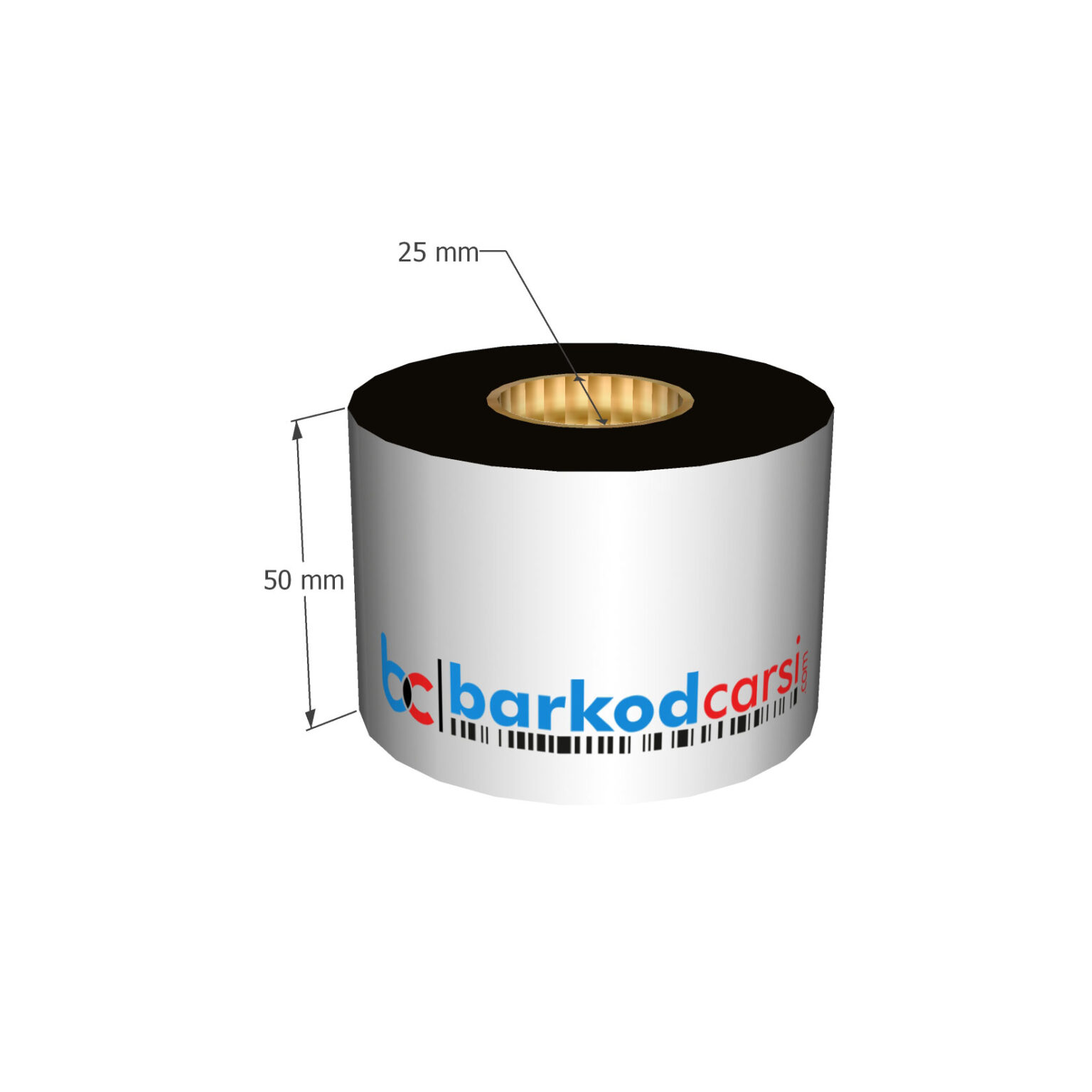 50x300 mt Wax / Wax-Resin / Resin / Hot-Foil Ribon Çeşitleri By BarkodCarsi.com