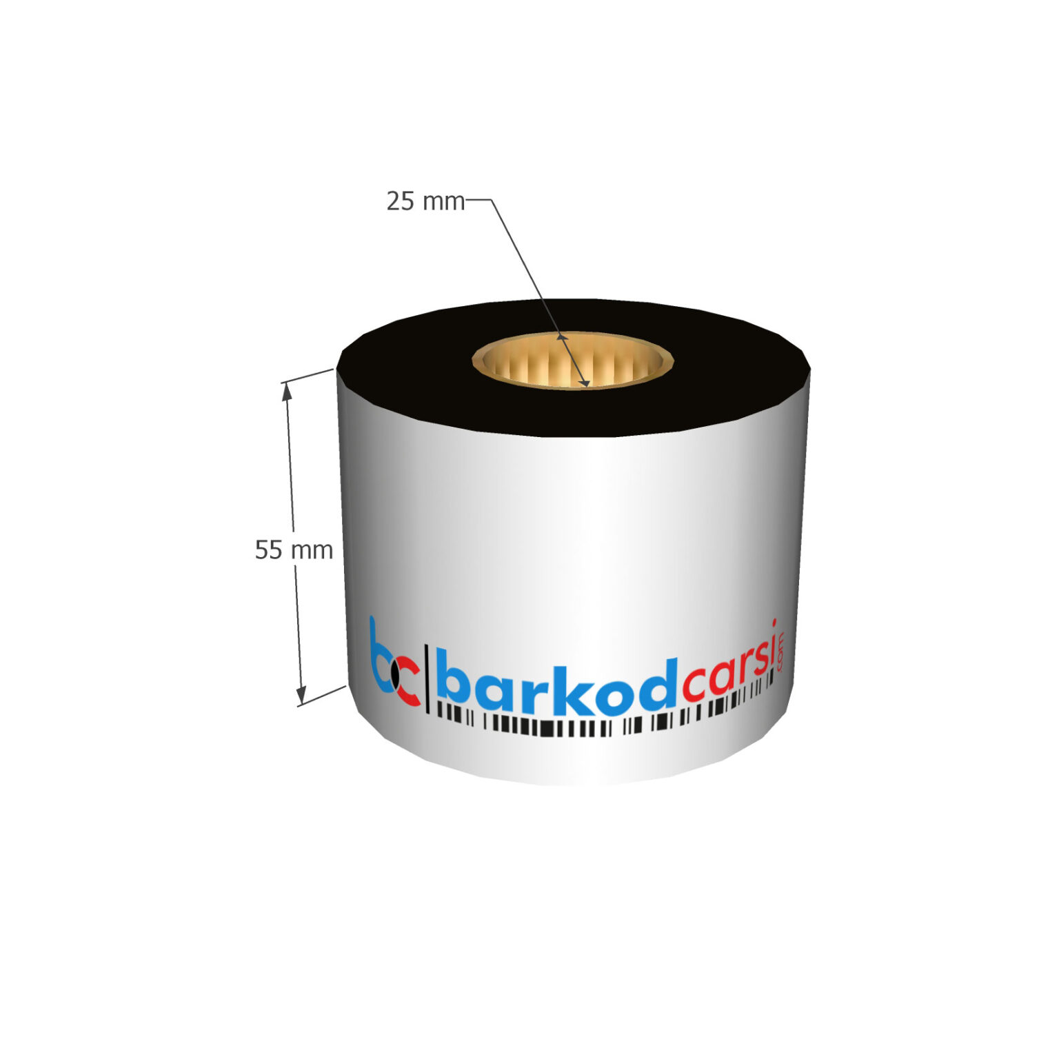 55x300 mt Wax / Wax-Resin / Resin / Hot-Foil Ribon Çeşitleri By BarkodCarsi.com