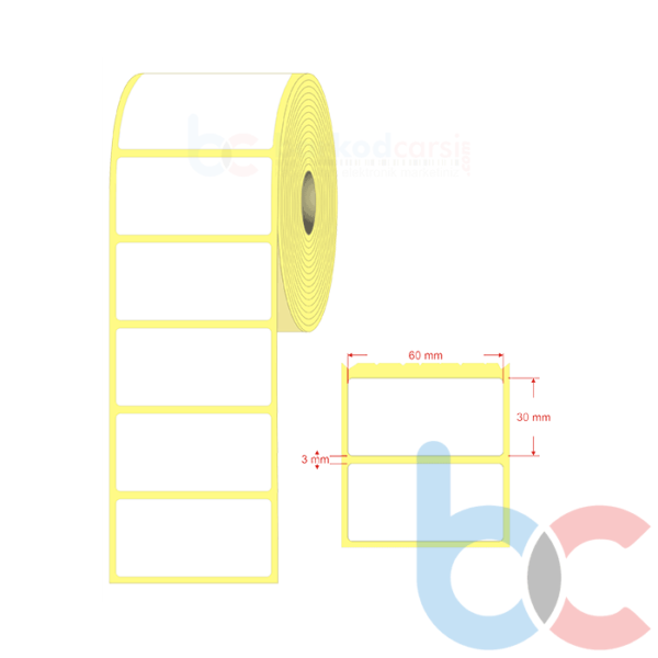 60 mm X 30 mm Barkod Etiket (Fiyatı & Online Sipariş)