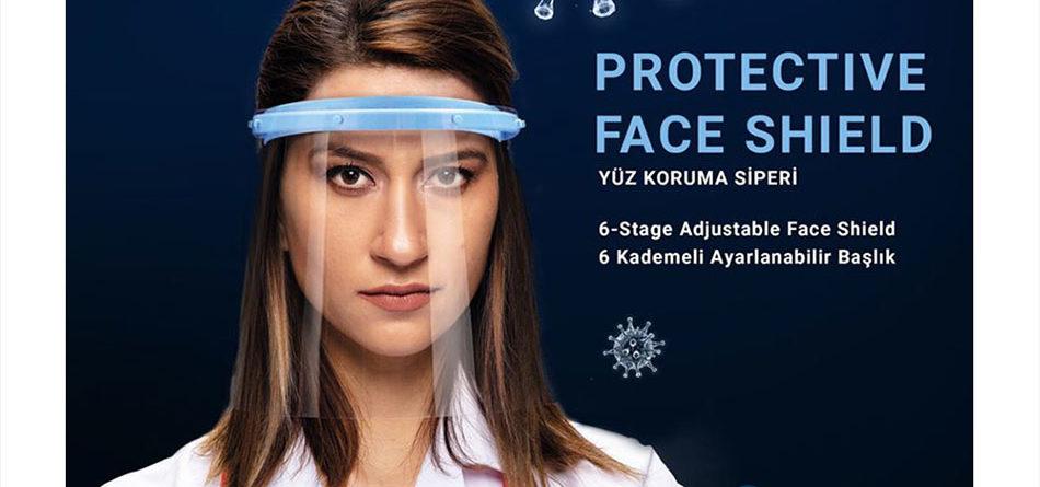Şeffaf Plastik Vizörlü, Koruyucu Yüz / Surat Maskesi